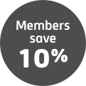 Members save 10% icon