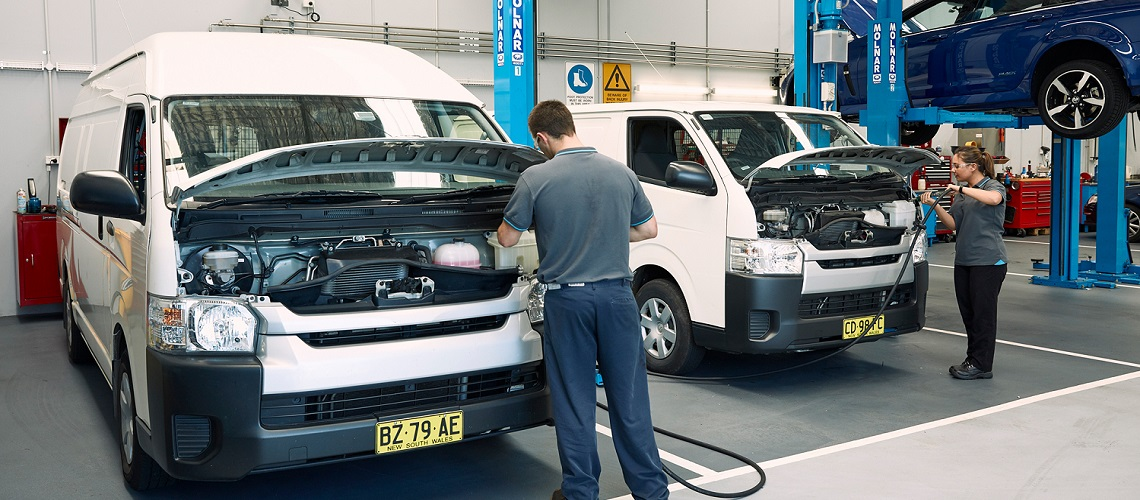 NRMA fleet car servicing