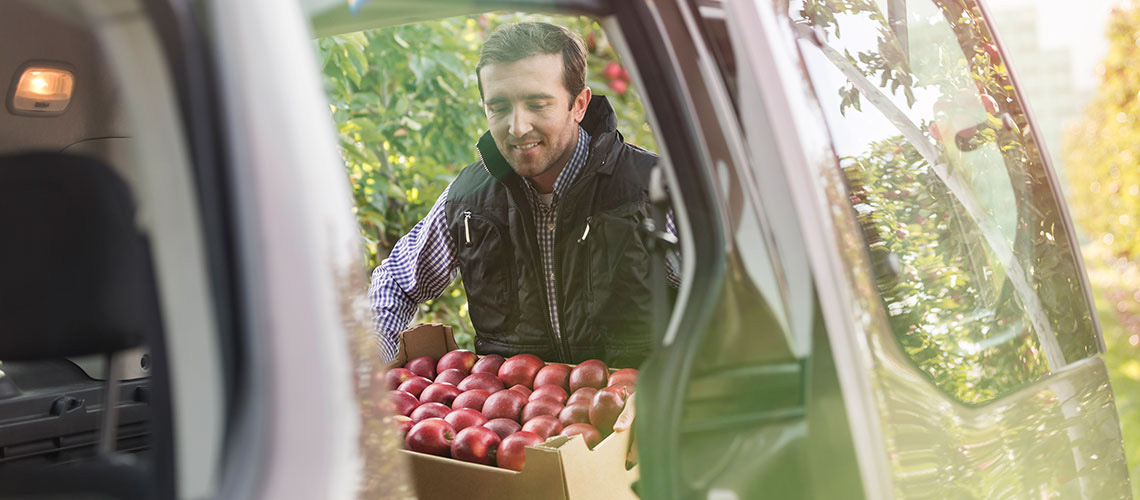 Men with Apples Business Motoring