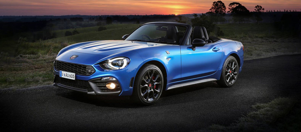 Blue Abarth Spider