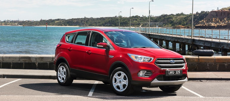 Red exterior 2017 Ford Escape