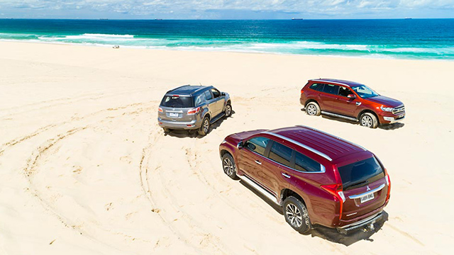 4WD SUV Comparison Pajero Sport Ford Everest Holden Trailblazer