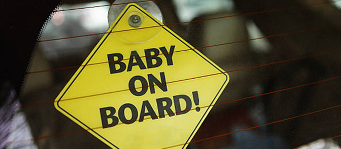 Our Nephew Car Sign Like Baby//Child On Board Blue//gold