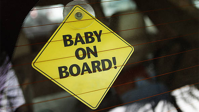Baby on board mobile sign