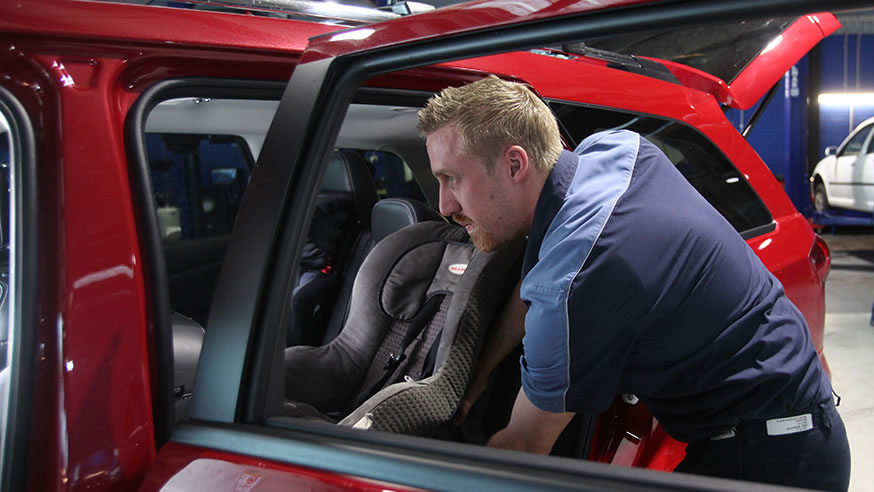 NRMA child restraint installation