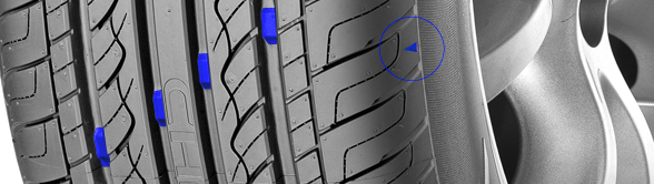 tyre wear indicator on tyres