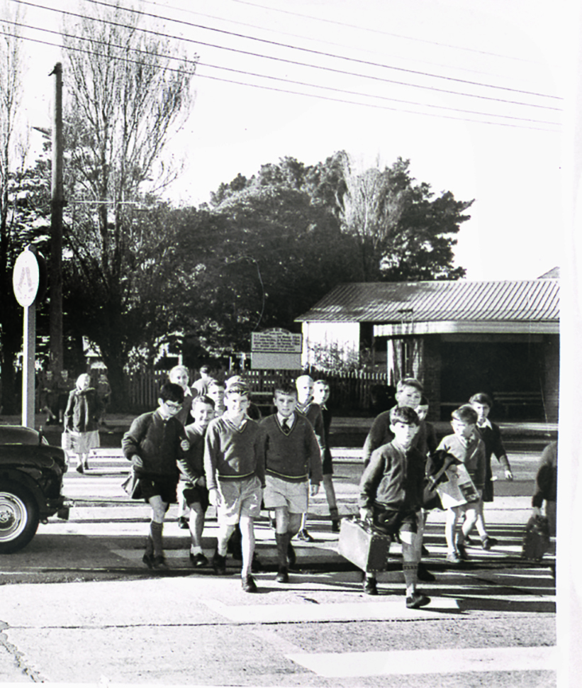 School crossing in the 1950s
