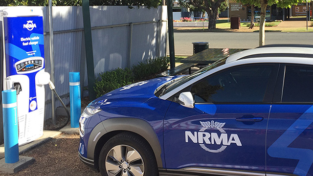 NRMA EV fast charger Hay mobile