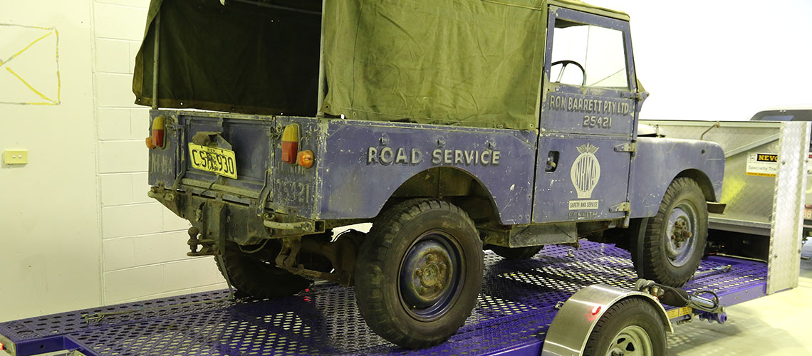 NRMA Land Rover restoration project