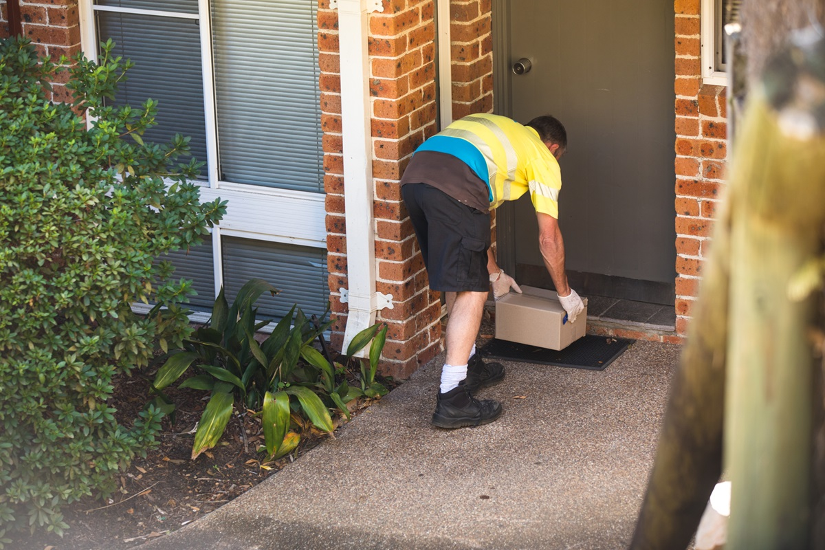 NRMA Patrol delivering goods practicing hygiene and social distancing
