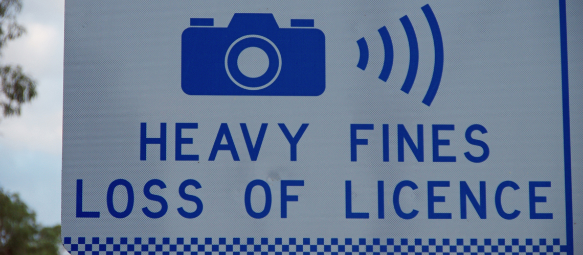 Heavy Fines - Loss of Licence - NSW road sign