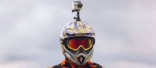 Motorbike helmet with camera