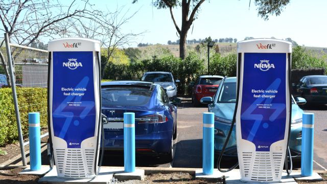 NRMA electric vehicle chargers in the Hunter Valley