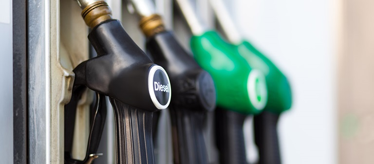 Diesel at petrol bowser