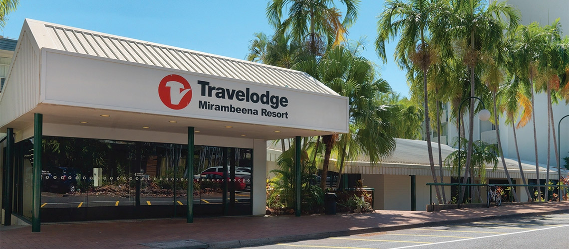 Outside Travelodge Resort Darwin NT