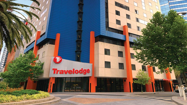 Outside Travelodge Southbank Melbourne VIC