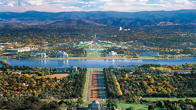 Aerial View Canberra Canberra my nrma locals guide