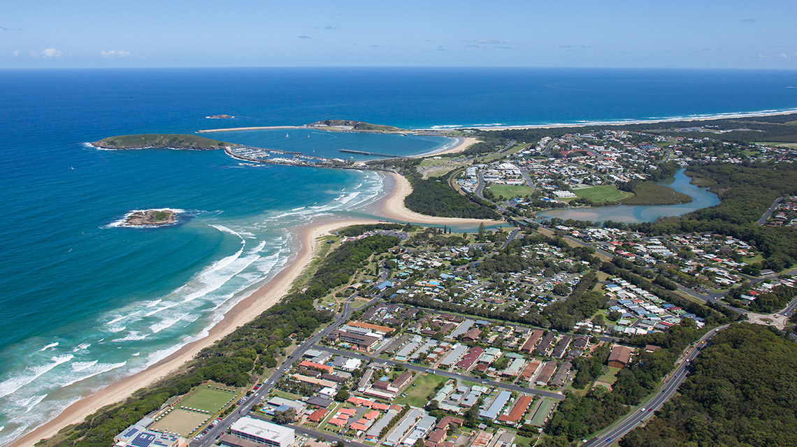 Coffs Harbour Aerial View Coffs Harbour my nrma local guides