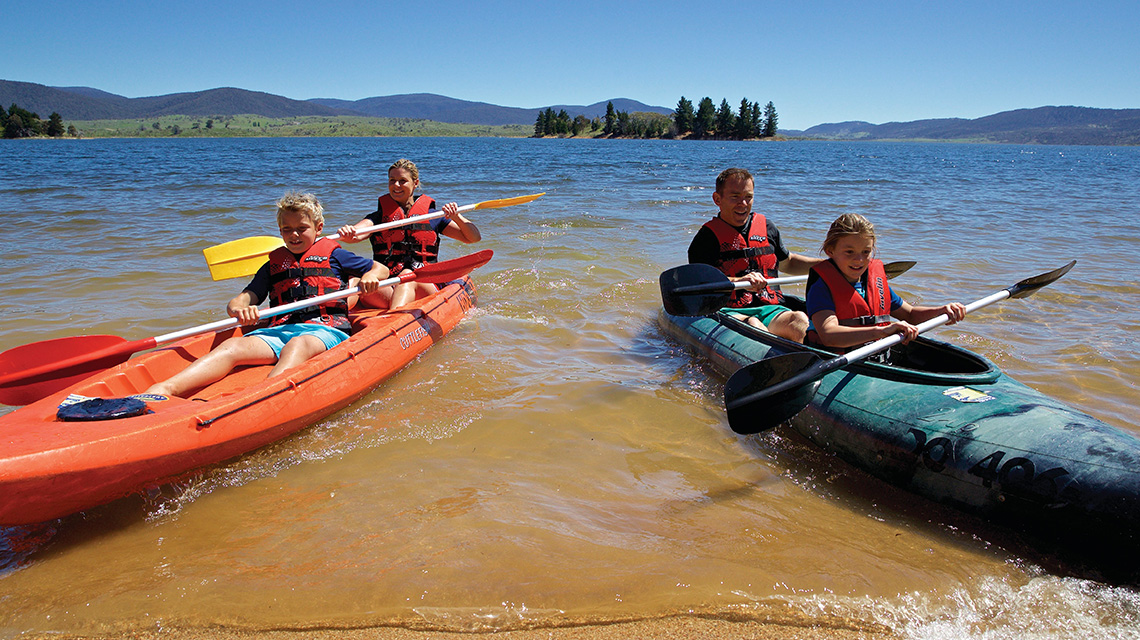 Family Kayaking Snowy Mountains my nrma local guides