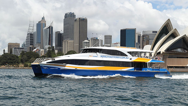 Manly Fast Ferry passes the Sydney Opera House
