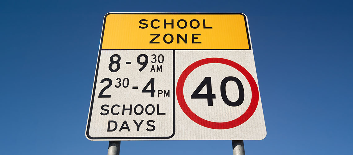 NSW school zone sign