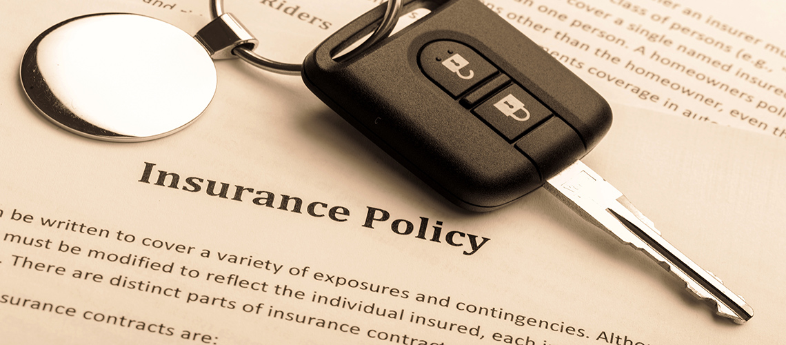 Car key and insurance policy