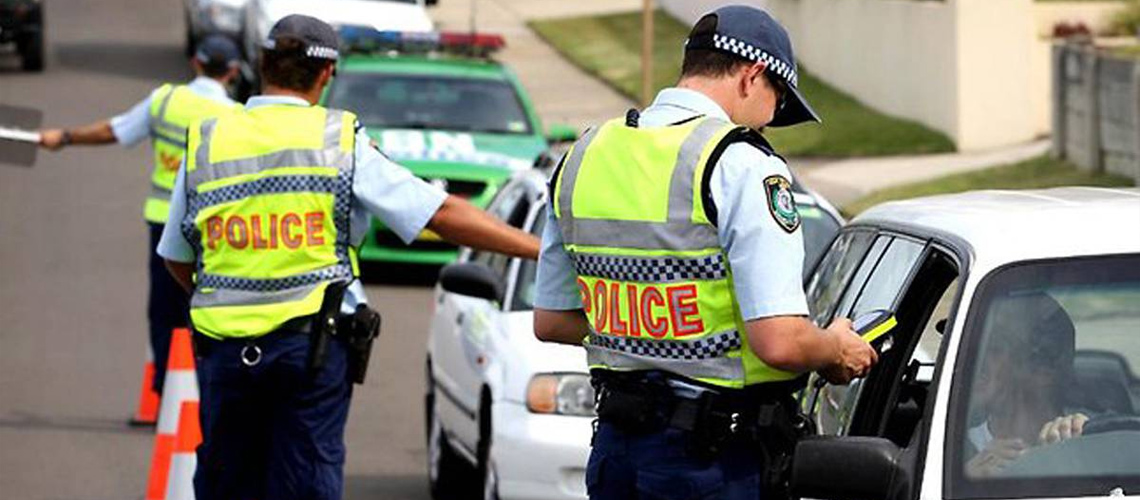 NSW Police - random breath test