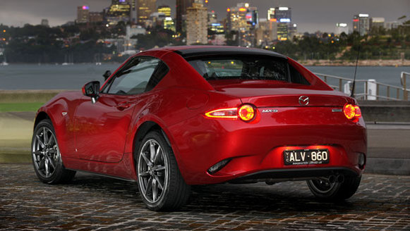 Mazda MX 5 GT red exterior rear