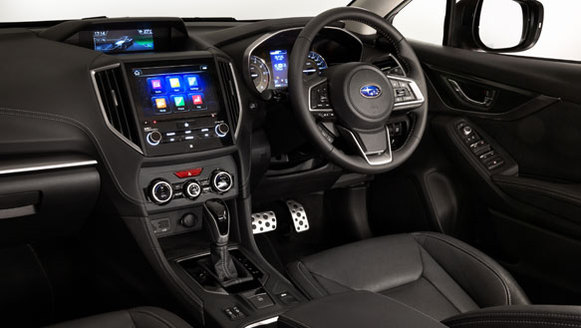 2017 Subaru Impreza red Interior