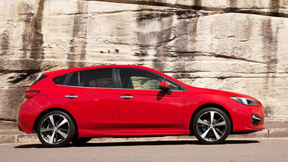 2017 Subaru Impreza S red side