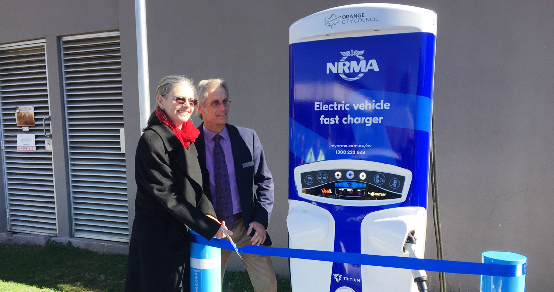 NRMA EV Fast Charger Orange