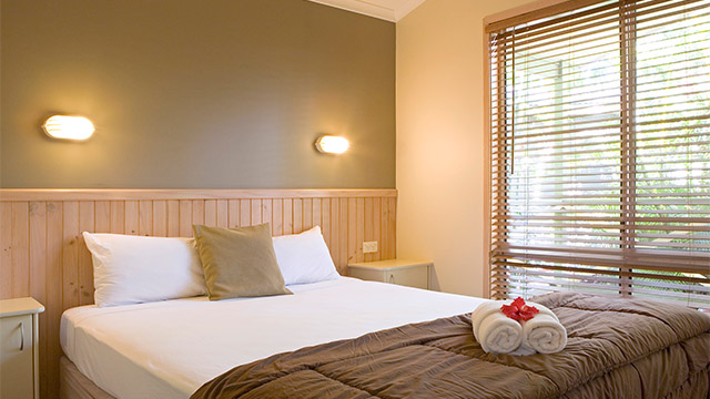 Master Bedroom Darlington Beach Holiday Park NRMA Parks and Resorts NSW