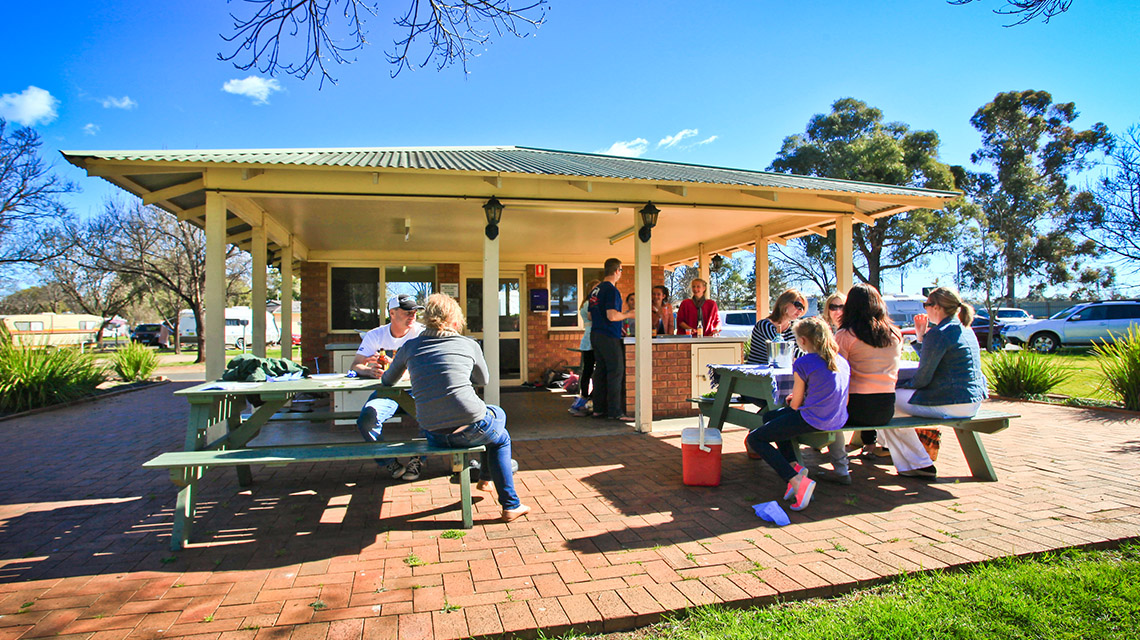 Family bbq area Dubbo my nrma local guides