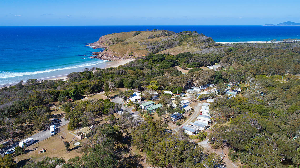 Coastal view Grassy Heads Holiday Park NSW my nrma local guides