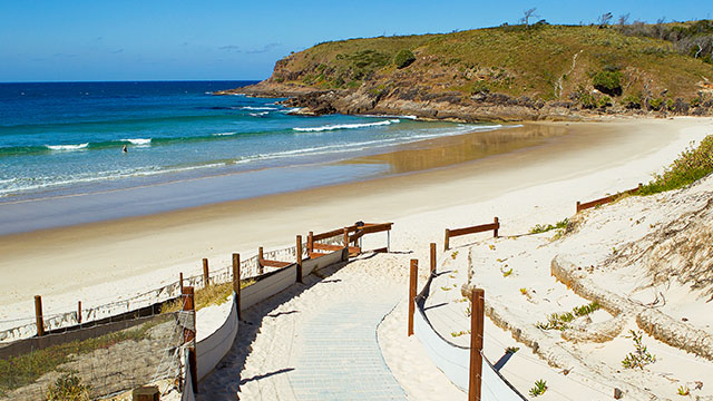Beach view Grassy Heads Holiday Park NSW my nrma local guides