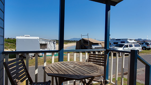 Porch view Horseshoe Bay Holiday Park NSW my nrma local guides