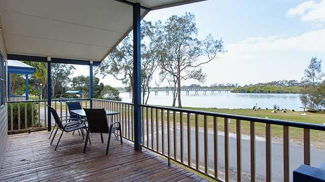View from porch Stuarts Point Holiday Park my nrma local guides