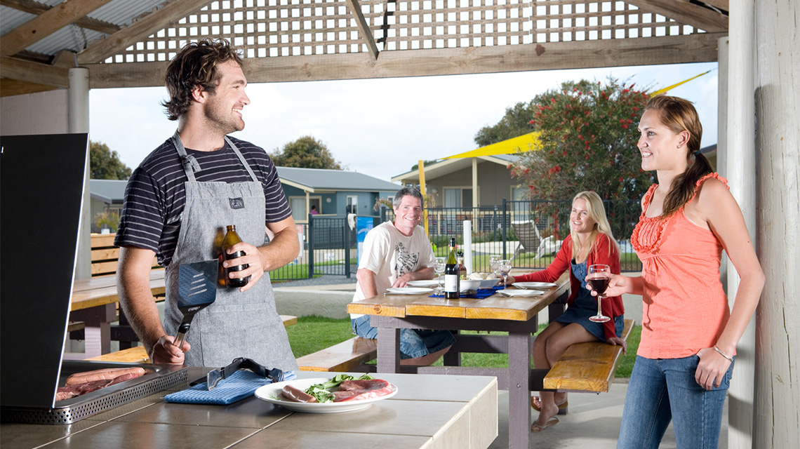 BBQ Family Merimbula Holiday Park NRMA Holiday Parks and Resorts NSW