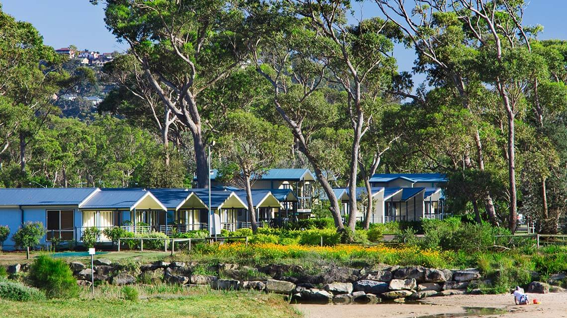 exterior view vilas NRMA Ocean Beach Holiday Resort NSW my nrma local guides