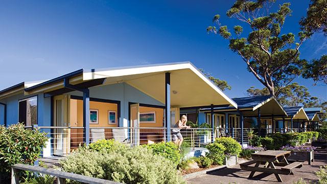 exterior of villa NRMA Ocean Beach Holiday Resort NSW my nrma local guides