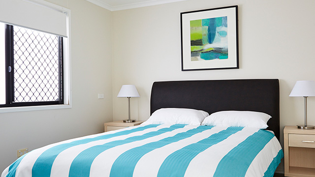 Master Bedroom Bayside Cabin Port Macquarie Breakwall Holiday Park NRMA Parks and Holiday Resorts NSW