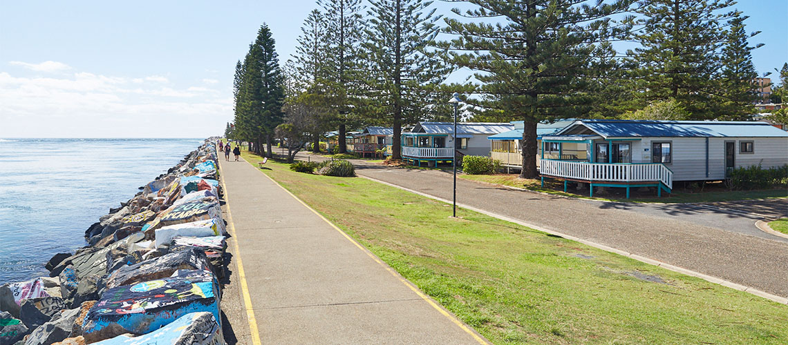 villa breakwall Port Macquarie Breakwall Holiday Park NSW my nrma local guides