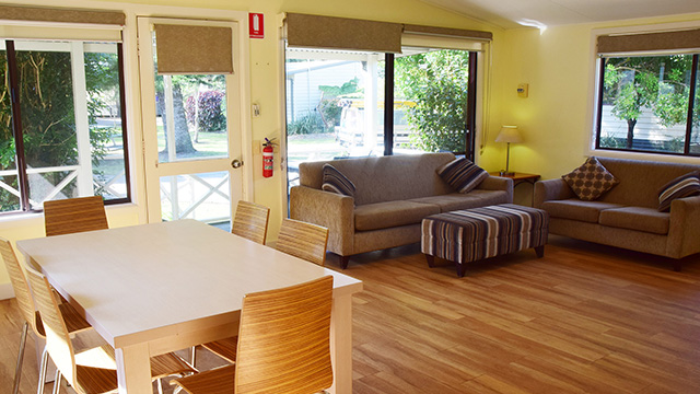 Living Room Sydney Lakeside Holiday Park NRMA Parks and Resorts NSW