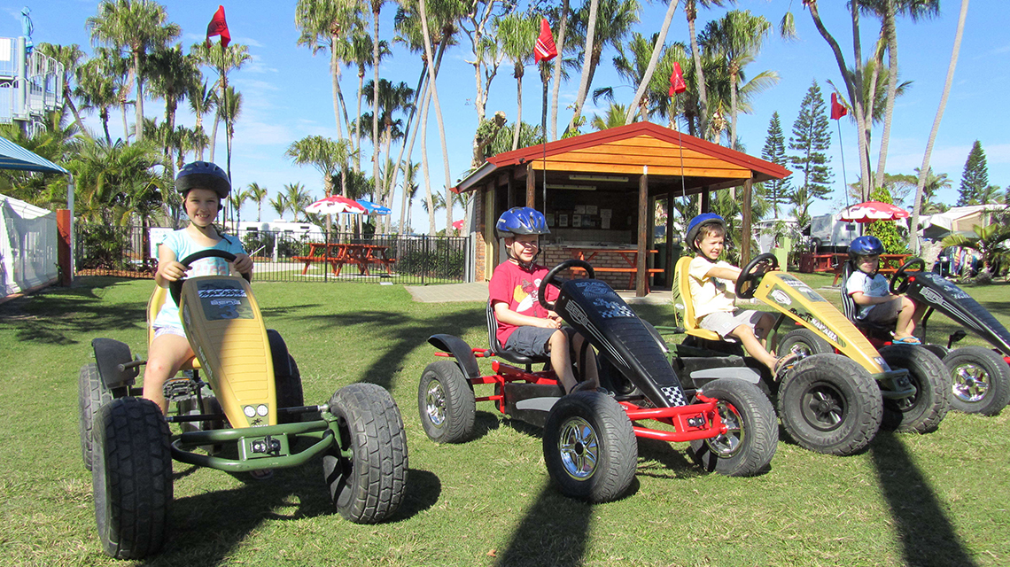 Pedal Carts NRMA Capricorn Yeppoon Holiday Park
