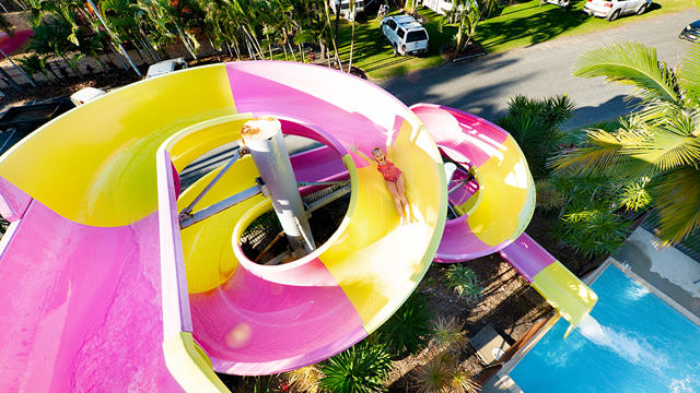 NRMA Capricorn Yeppoon double loop waterslide