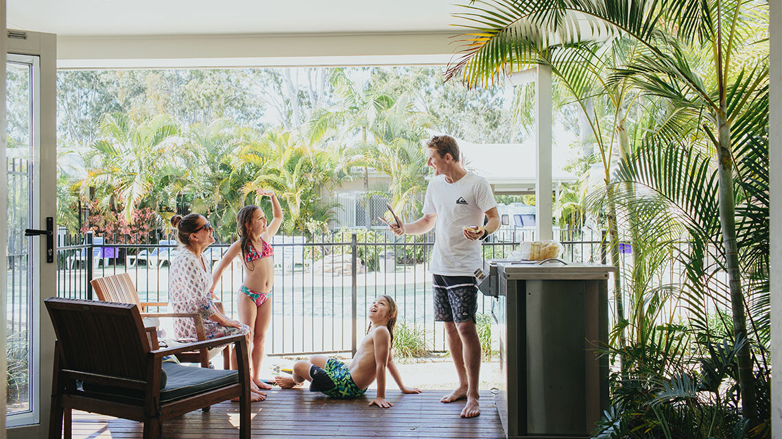 Family BBQ Treasure Island Holiday Resort NRMA Holiday Parks and Resorts QLD