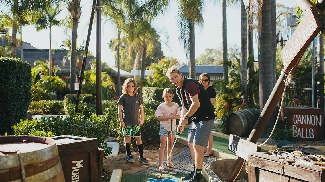 Family Golf Treasure Island Holiday Resort NRMA Holiday Parks and Resorts QLD