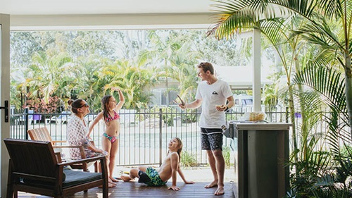 Family bbq Treasure Island Holiday Resort my nrma local guides