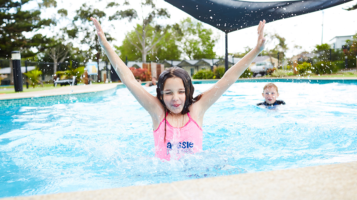 Children at Pool Victor Harbour Beachfront Holiday Park NRMA Parks and Resorts SA
