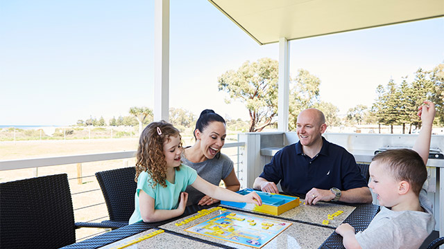family playing scrabble Victor Harbor Beachfront SA my nrma local guides